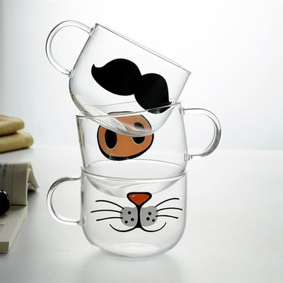 Funny Animal Mouth Glass Cups