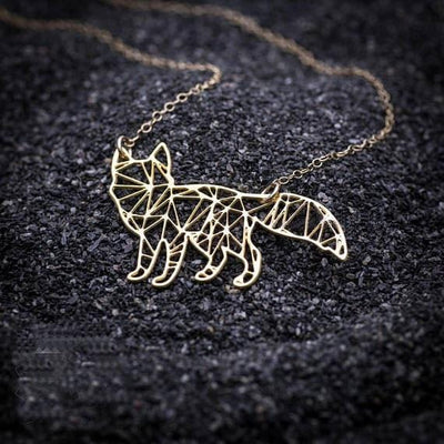 Geometric Animal Fox Necklace