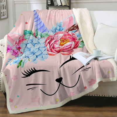 Artful Fluffy Fleece Cat Blankets-Blankets-FreakyPet