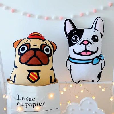 Cute Bulldog Print Sofa Pillows
