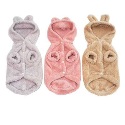Warm Fluffy Cat Costume Clothes