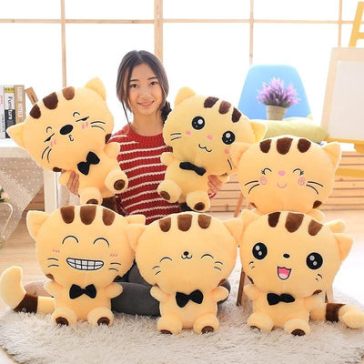 Cute Big Fluffy Smiling Cat Stuffed Toys