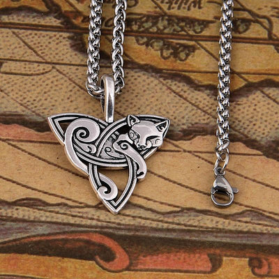 Celtic Viking Cat Necklace-Pendant Necklaces-FreakyPet