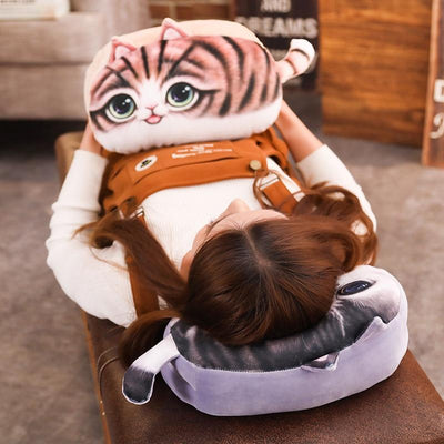 3D Cat Plush Toys Handwarmer