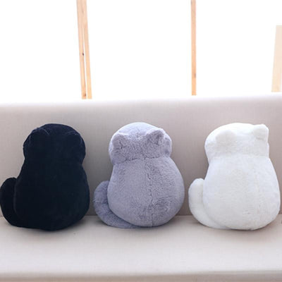 Lounging Kawaii Plush Cat Toy