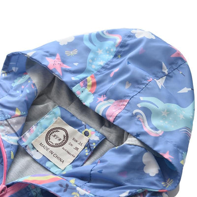 Unicorn Rainbow Windbreaker Jacket