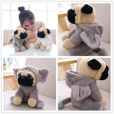 Pug In A Hoodie Plush Toy