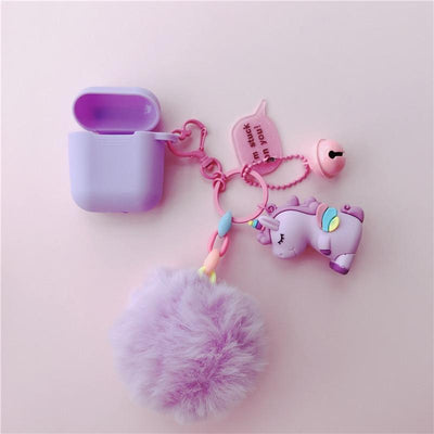 Fluffy Unicorn Wireless Earphone Case