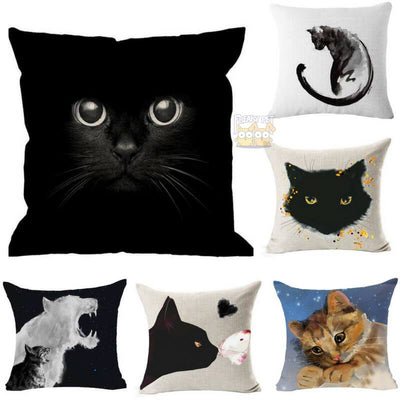 Lovely Cute Cat Pillow Decor Cases-Home-FreakyPet