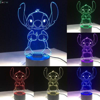Lilo & Stitch Color-Changing LED Lamp