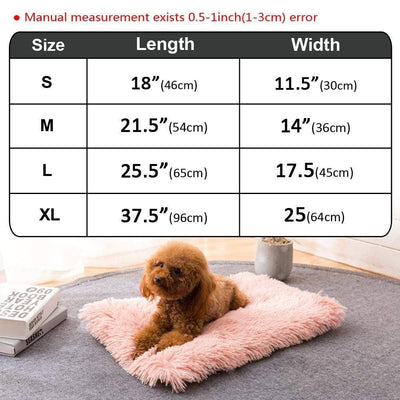 [Hot Selling] Soft Fringy Fleece Dog & Cat Bed Mat-Houses, Kennels & Pens-FreakyPet