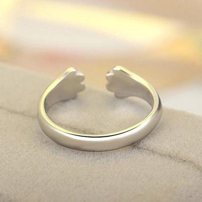Silver Paw Claw Cat Ring-Home-FreakyPet