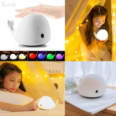 1-Touch Color-changing Dolphin Night Light Lamp