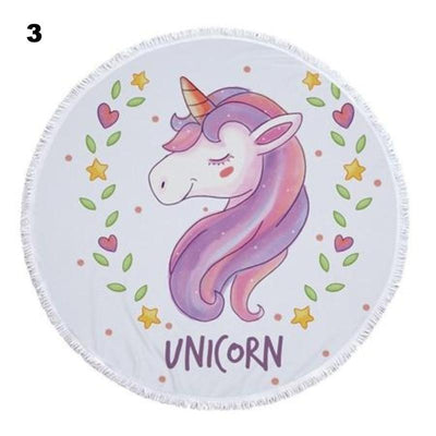Large and Colorful Unicorn Towel