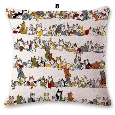 Insanely Cute And Artful Cat Pillow Cases-Home-FreakyPet