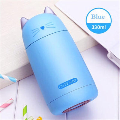 Cute Cat Stainless Steel Thermal Bottles