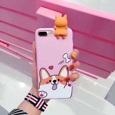 Cute 3D Welsh Corgi Dog IPhone Cases