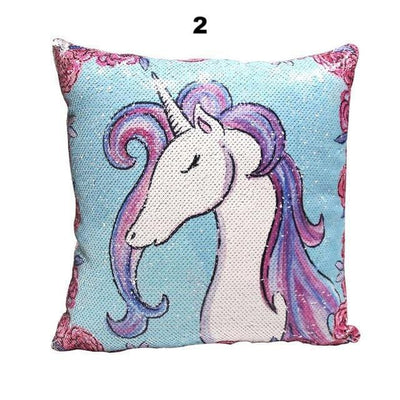 Miracille Sequins Unicorn Cushion Covers