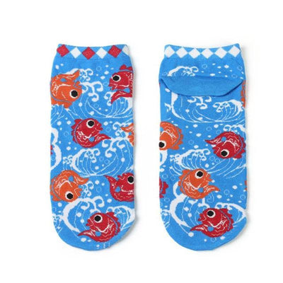 Lucky Cat Graphic Socks-Socks-FreakyPet