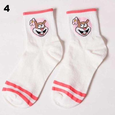 Cartoon Character Ankle Socks