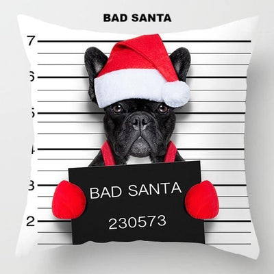 Cute Criminal Puppy Dogs Cushion Covers