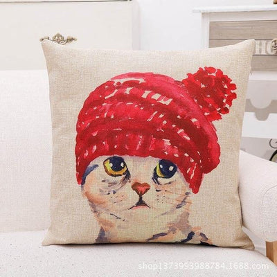 Modern Cat Cushion Cover