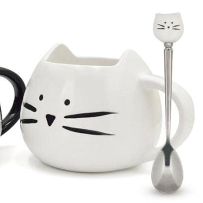 Black and White Cat Mugs