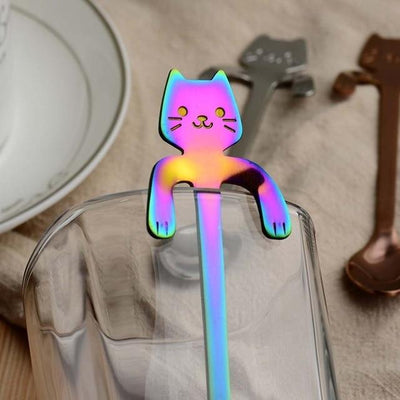 4Pcs Stainless Steel Cat Kitty Coffee Spoons