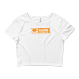 Ski Signs - Freestyle Terrain - Caution Flying Objects - Women's Crop Tee
