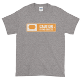 Ski Signs - Freestyle Terrain - Caution Flying Objects - Short sleeve Men's t-shirt