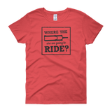 Where the Fork are We Going to Ride - Women's short sleeve t-shirt