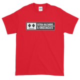 Ski Signs - Experts Only - Extra Hazards & Obstacles - Short sleeve Men's t-shirt