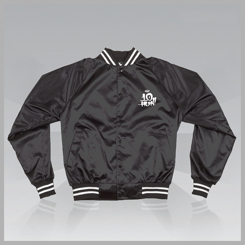 """Only Time Will Tell"" - Satin Baseball Jacket"