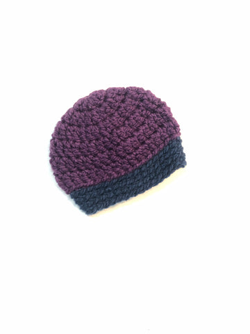 Purple & Blue Two Toned Beanie