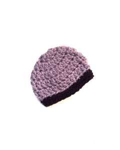 Purple Two Toned Beanie