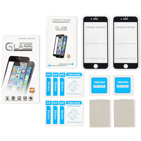 Proud Focus IPhone 7 Plus Full Size Screen Protector Tempered Glass 2 PACK