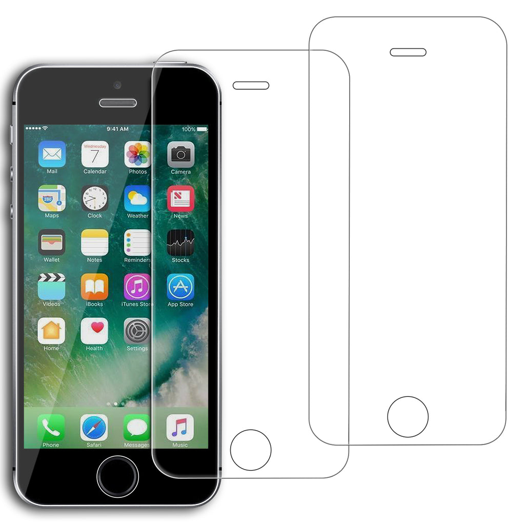 194fb6a3691 Tempered Glass Screen Protector for iPhone SE, iPhone 5S, iPhone 5C, iPhone  5