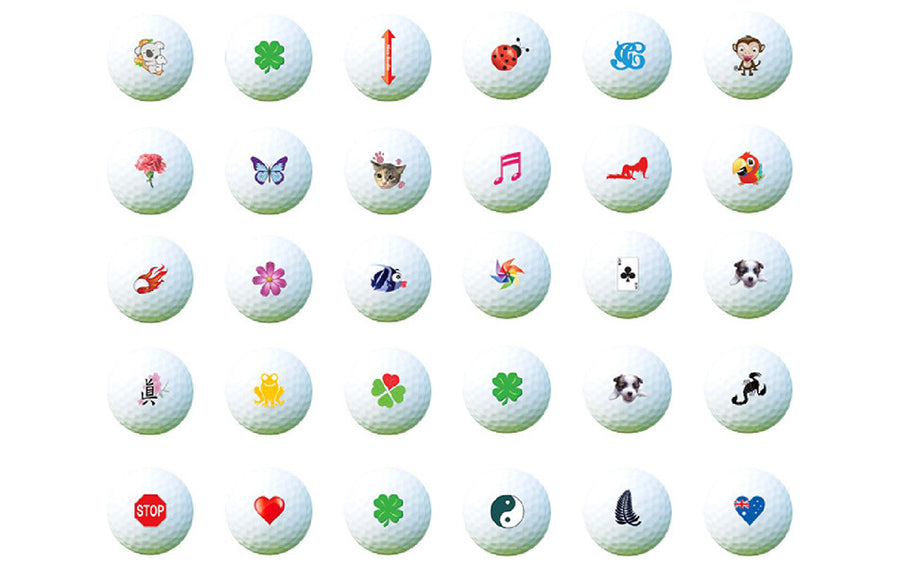 Golf Ball Stamps & Stickers