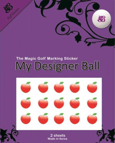 Golf Ball Sticker / Stamp - Apple