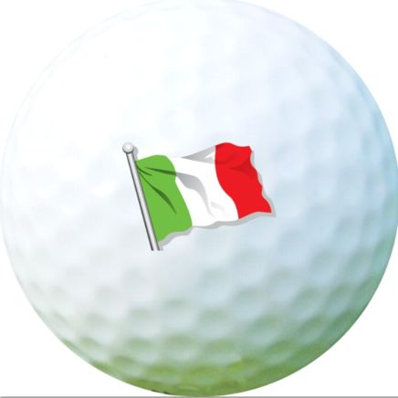 Golf Ball Sticker / Stamp - Italia