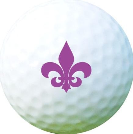 Golf Ball Sticker / Stamp - Fluer De Lis