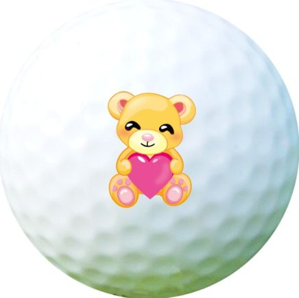 Golf Ball Sticker / Stamp - Teddy