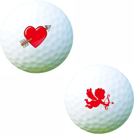 Golf Ball Sticker / Stamp - Love