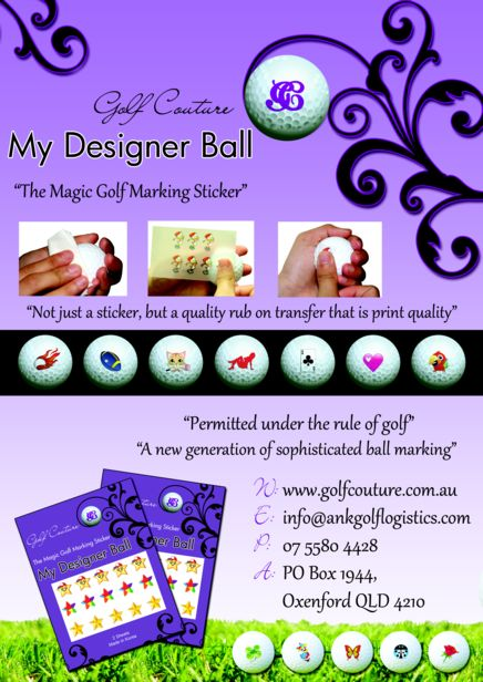 Golf Ball Sticker / Stamp - Golf Couture