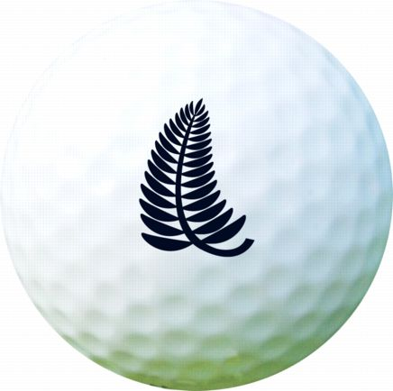 Golf Ball Sticker / Stamp - New Zealand Fern Kiwi