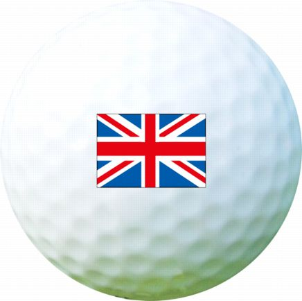 Golf Ball Sticker / Stamp - UK England Flag / Union Jack
