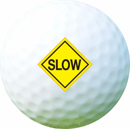 Golf Ball Sticker / Stamp - Road Signs - Stop / Slow / Give Way
