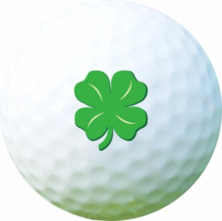 Golf Ball Sticker / Stamp - Clover Series