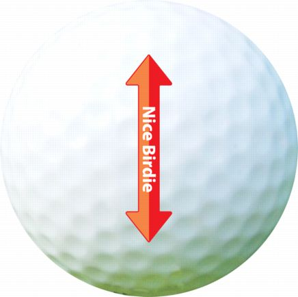 Golf Ball Sticker / Stamp - Marking Lines