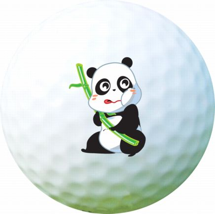 Golf Ball Sticker / Stamp - Panda
